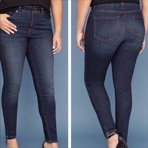 Lane Bryant skinny tighter tummy high rise jeans